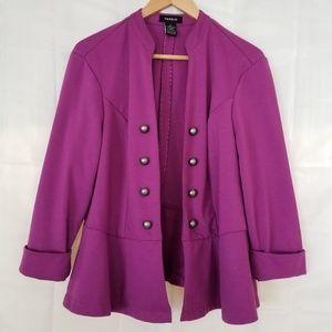 Torrid Military Band Knit Blazer Pink 1